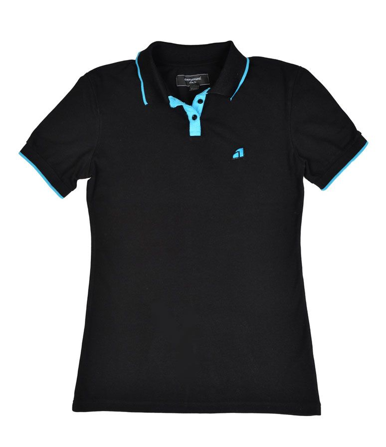 more photos f4303 2fb4d Dennyemand Kurzarm Poloshirt black / schwarz