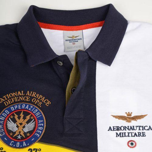Poloshow poloshirt Aeronautica militare blau gelb 171PO1156P138 3