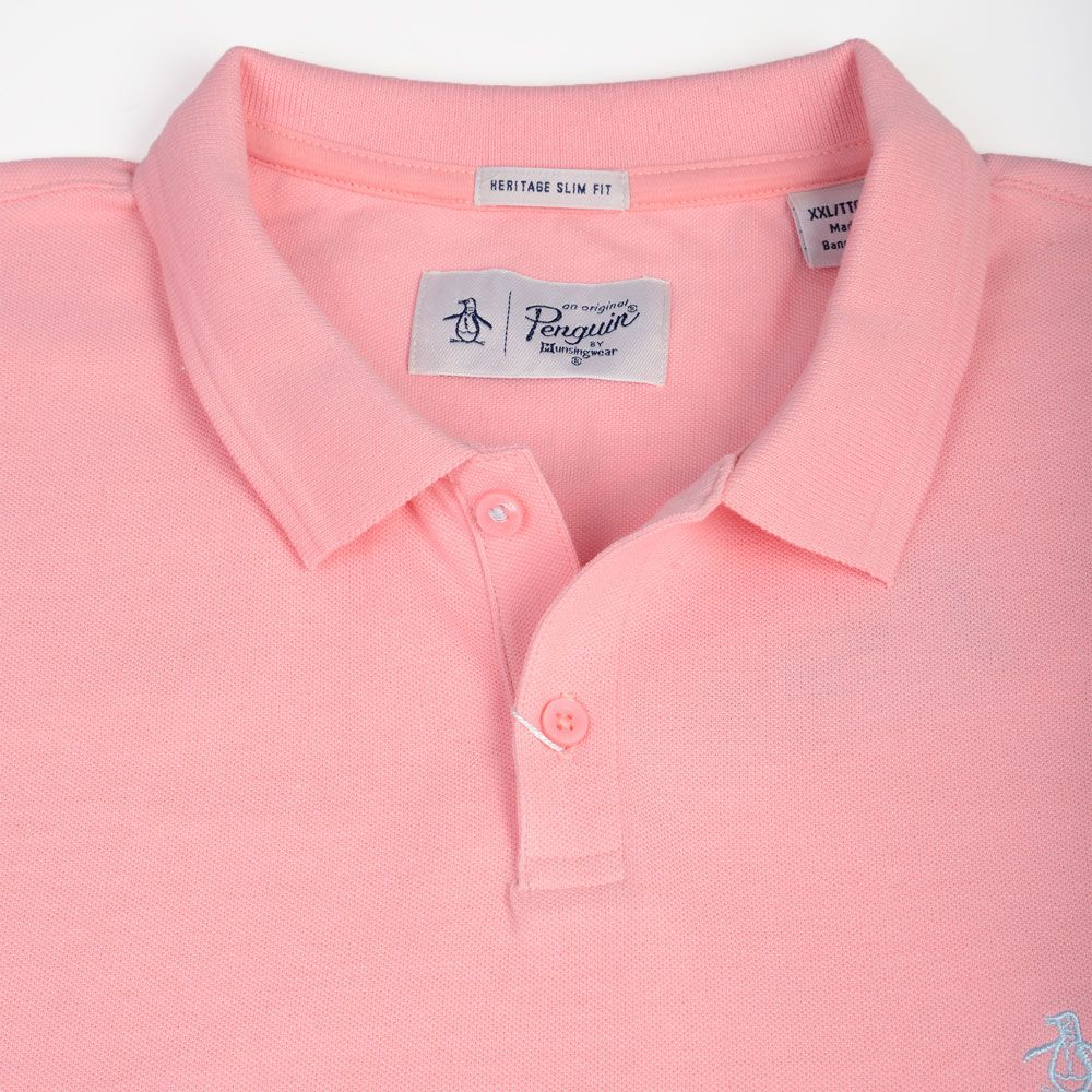 Poloshow poloshirt Penguin pink OPKM7557 3
