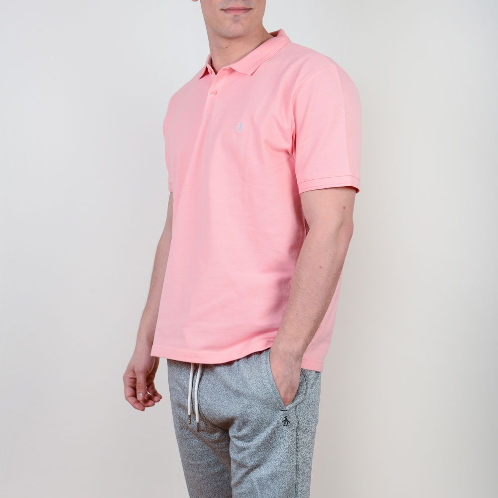 Poloshow poloshirt Penguin pink OPKM7557 4