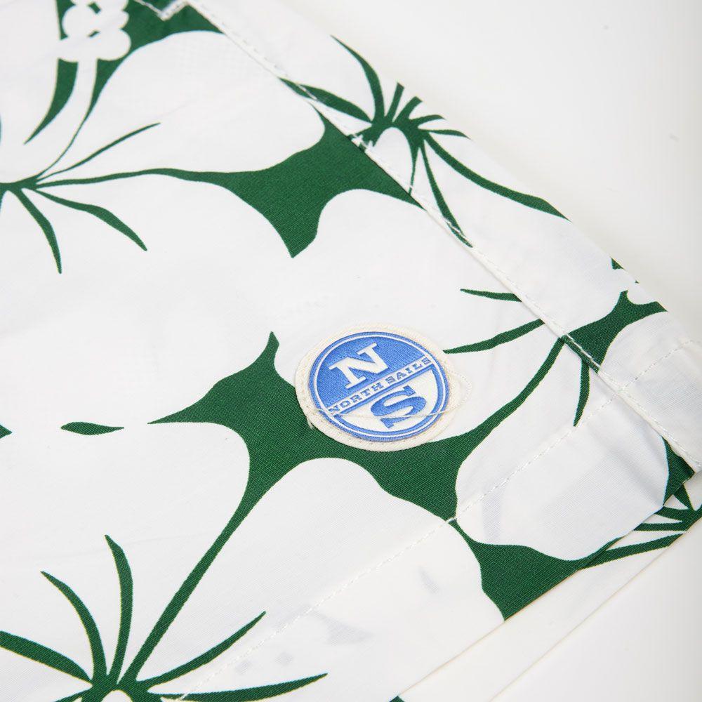 Poloshow short North Sails grün Blumen 67330900000V8320 3