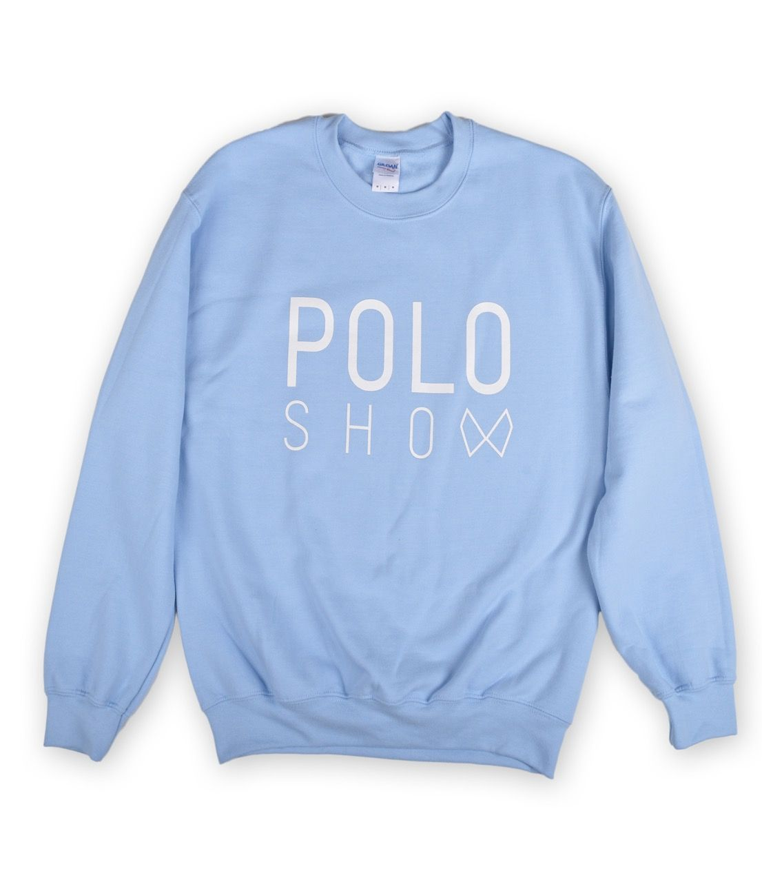 Poloshow Sweater lightblue 1