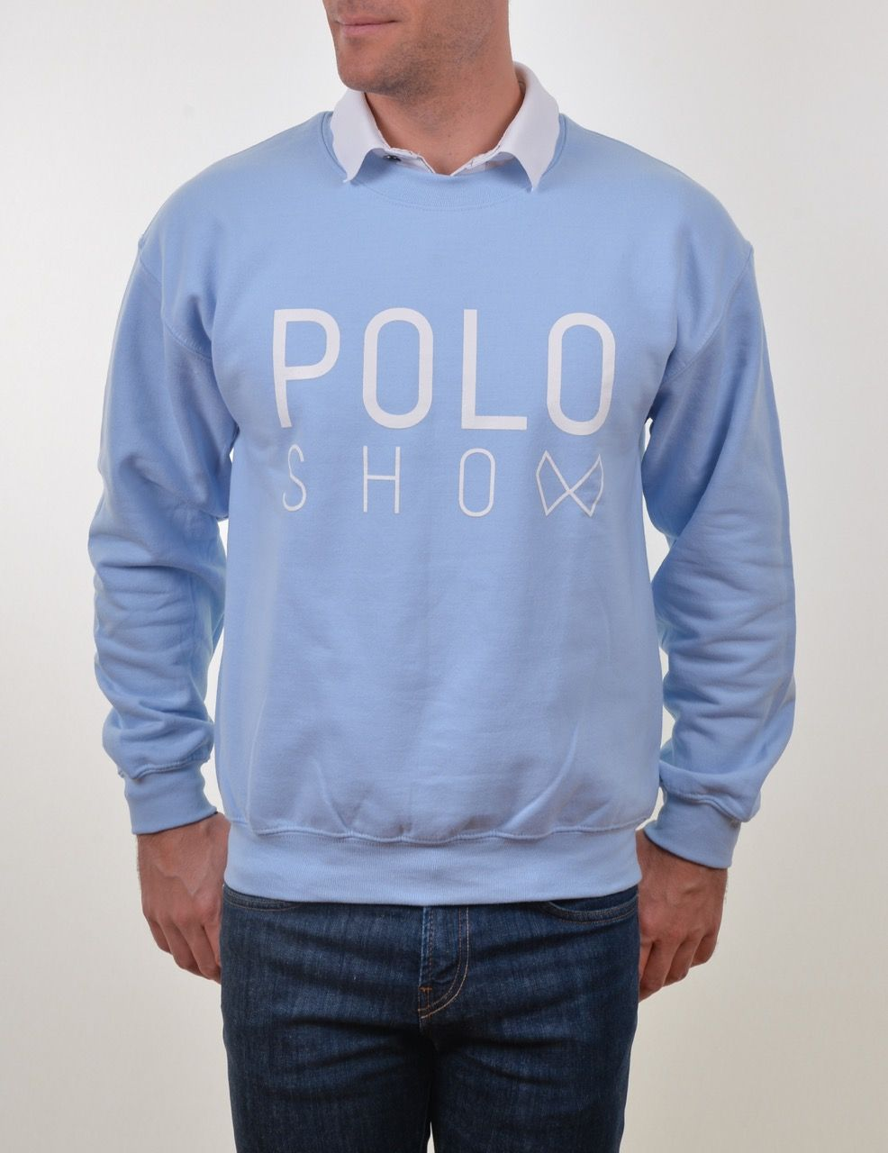 Poloshow Sweater lightblue 4