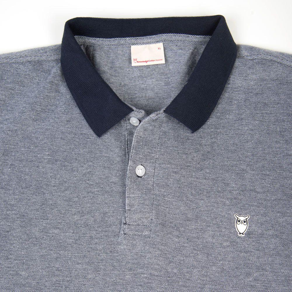 Poloshow polo Knowledge Cotton Apparel dunkelblau 20065 3