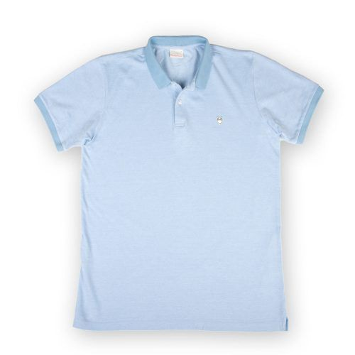 Poloshow polo Knowledge Cotton Apparel hellblau 20065 1