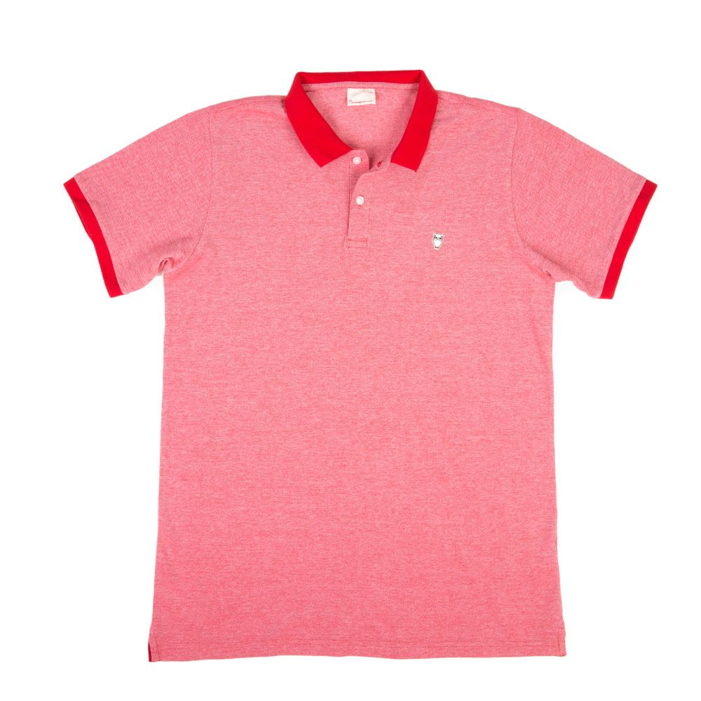 Poloshow polo Knowledge Cotton Apparel rot 20065 1