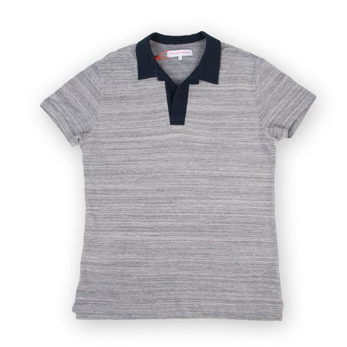 Poloshow polo Orlebar Brown navy melange 255457L 1