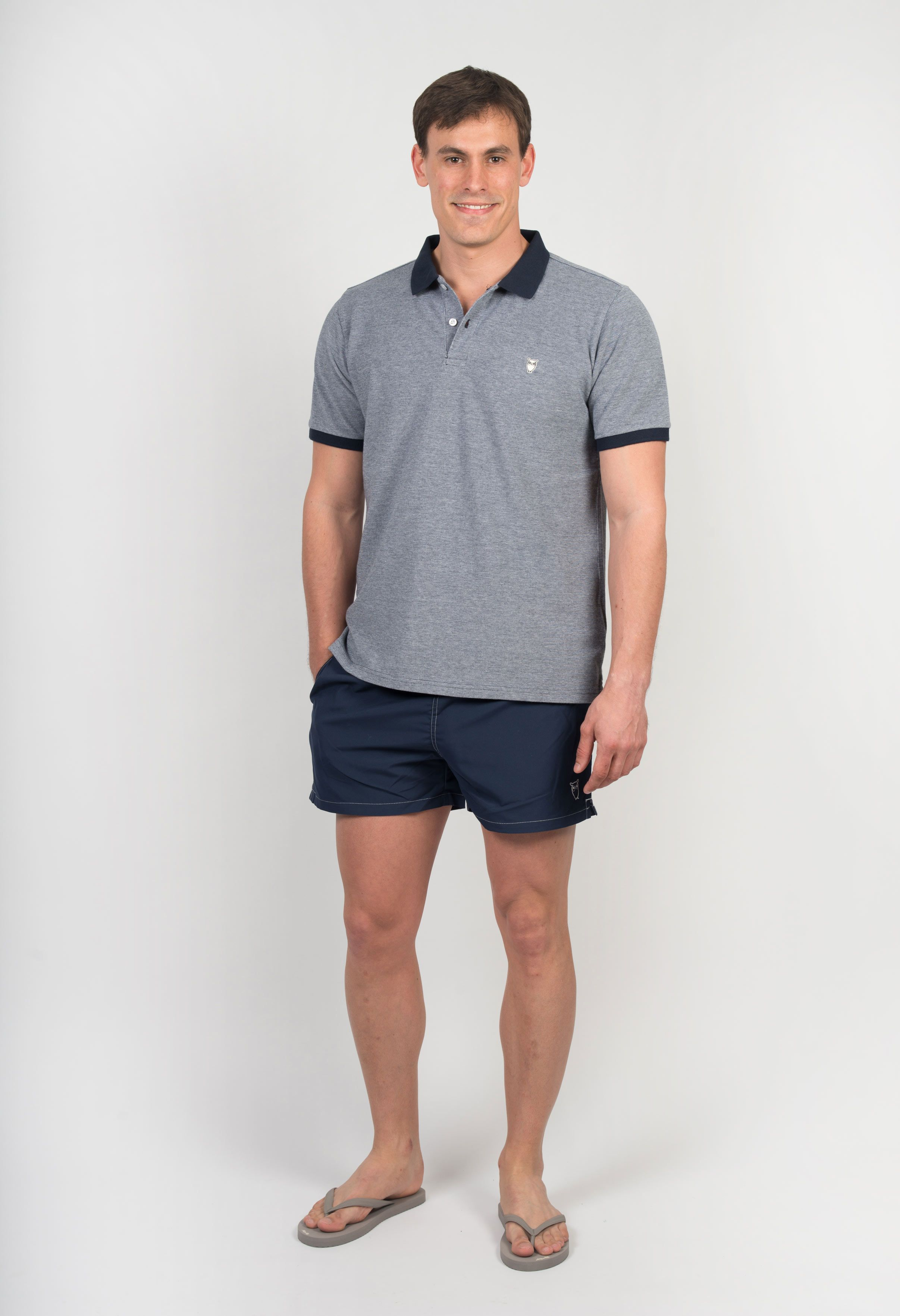 Poloshow polo Orlebar Brown navy melange 255457L 7