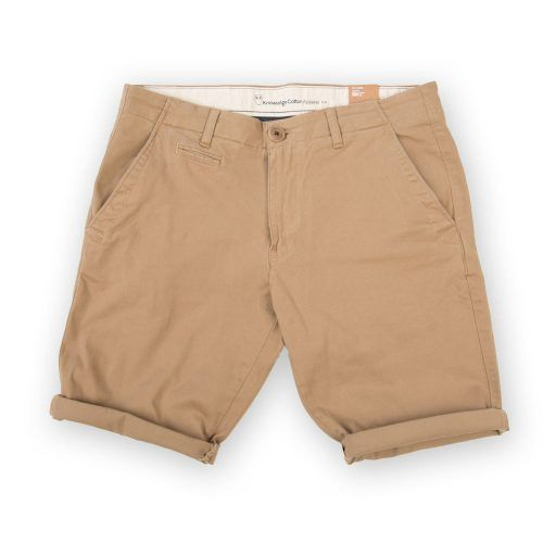 Poloshow short Knowledge Cotton Apparel beige 50115 1