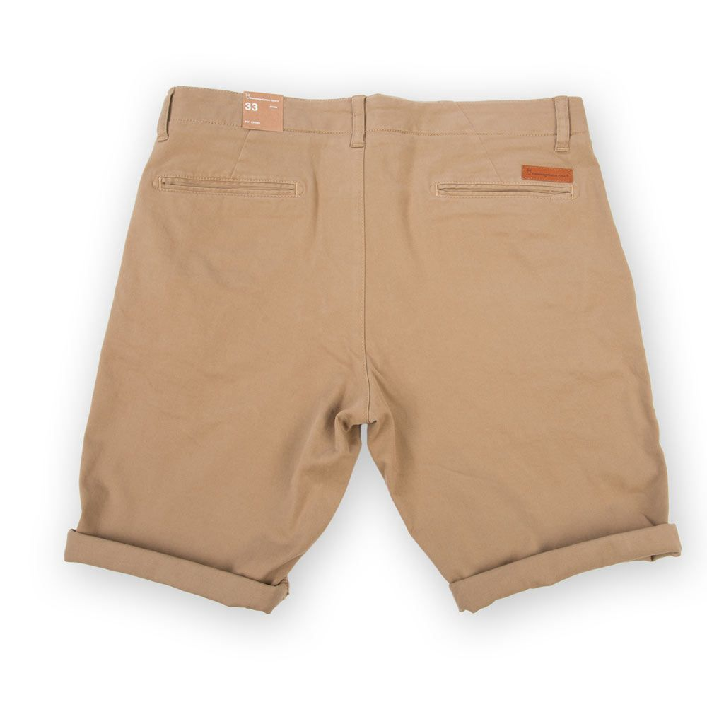 Poloshow short Knowledge Cotton Apparel beige 50115 2