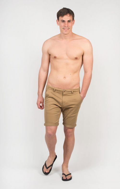 Poloshow short Knowledge Cotton Apparel beige 50115 5