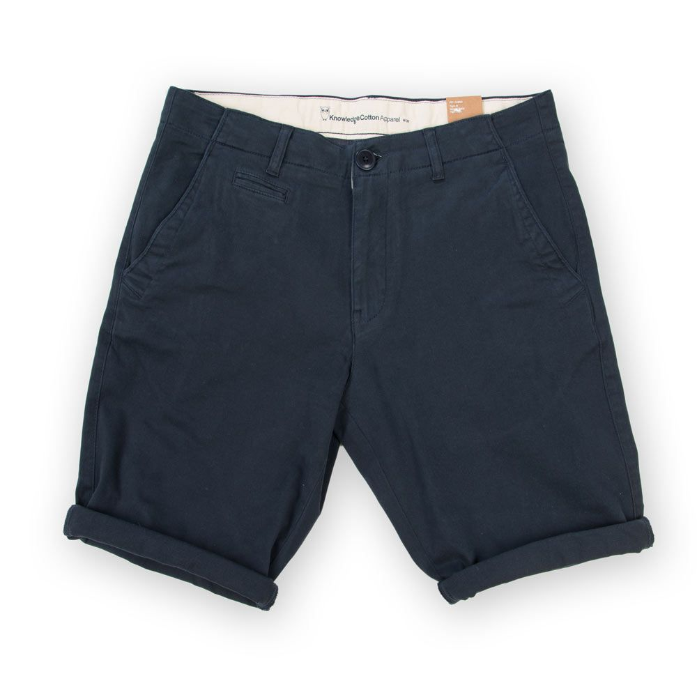 Poloshow short Knowledge Cotton Apparel blau 50115 1