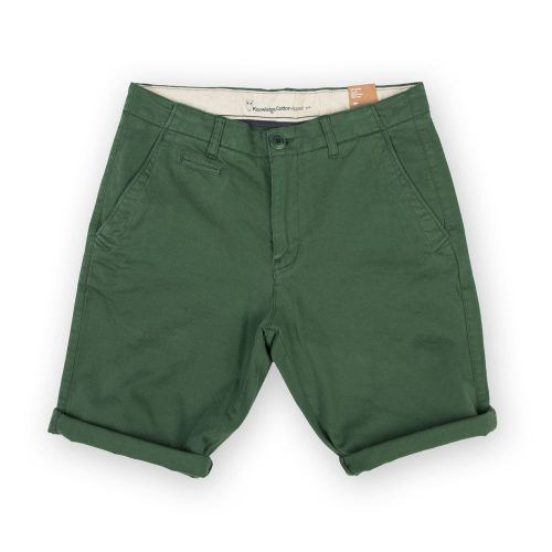Poloshow short Knowledge Cotton Apparel grün 50115 1