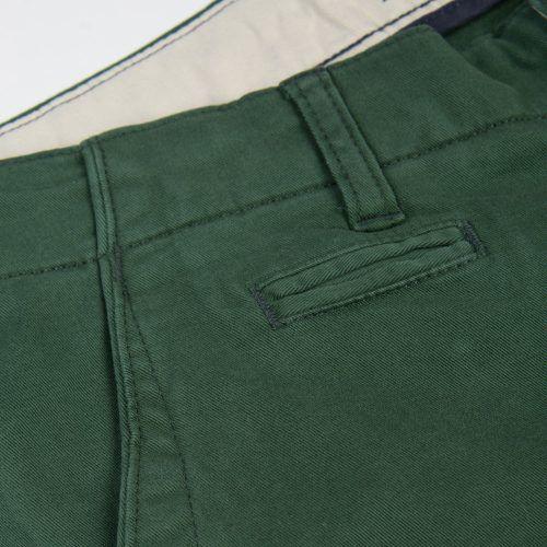 Poloshow short Knowledge Cotton Apparel grün 50115 3