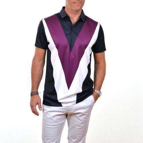 Poloshow polo J.Lindeberg M Albin  Reg Tx Jersey 5041 Deep Purple 76MQ538265610 6