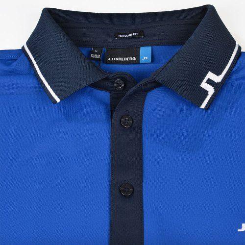 Poloshow polo J.Lindeberg M Johan Reg TX Tourque 6237 Strong blue 76MG538305088 3