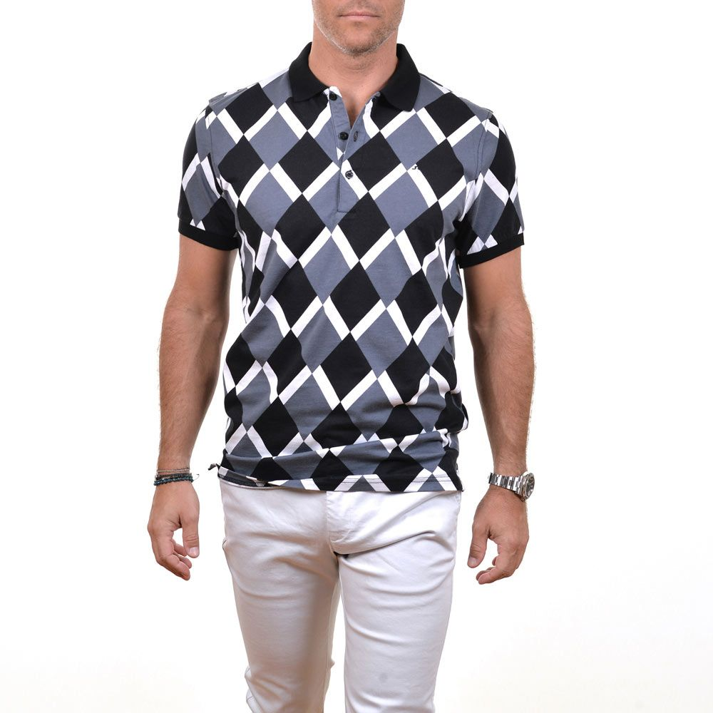 Poloshow polo J.Lindeberg M Kalle Slim Sublime Pique 9977 BlackDiamond 76MG537285093 6