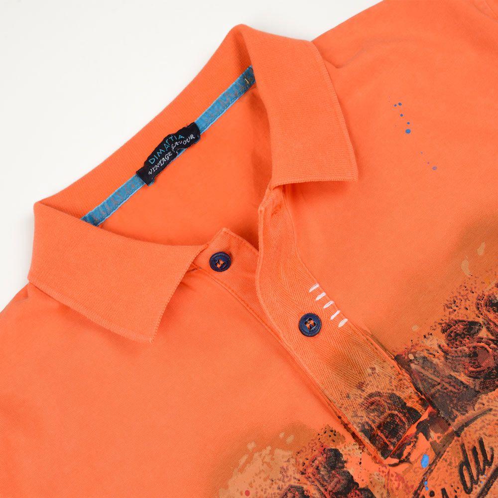Poloshow polo Dimattia P Old 2CV Orange 5T2109 3