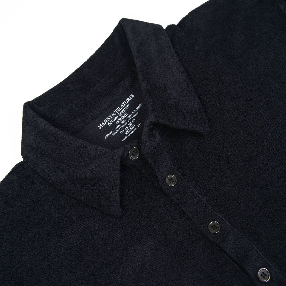 Poloshow polo Majestic Filatures Noir S1820002 002 3