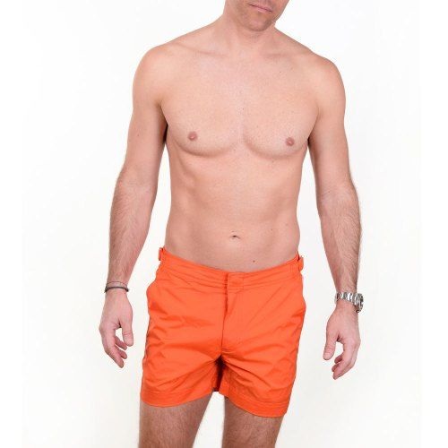 Poloshow short Orlebar Brown Hazard Orange 26709331 4