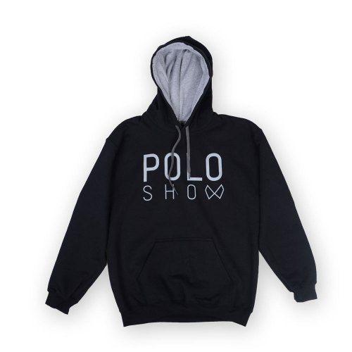 Poloshow Hoodie Black Grey 1