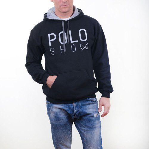 Poloshow Hoodie Black Grey 8