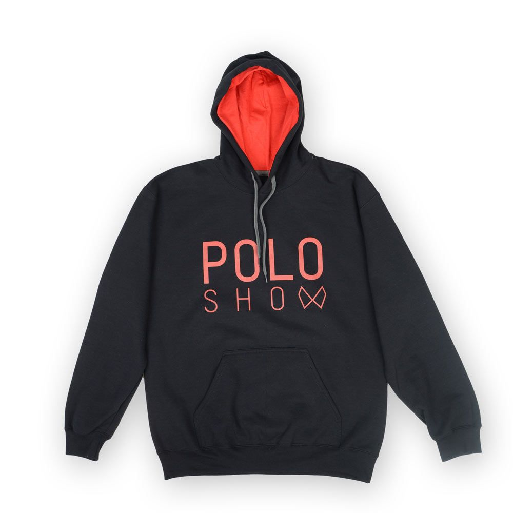 Poloshow Hoodie Black Red 1