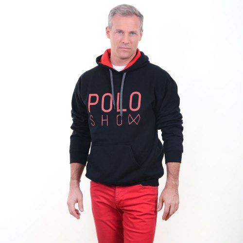 Poloshow Hoodie Black Red 10