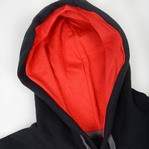 Poloshow Hoodie Black Red 4