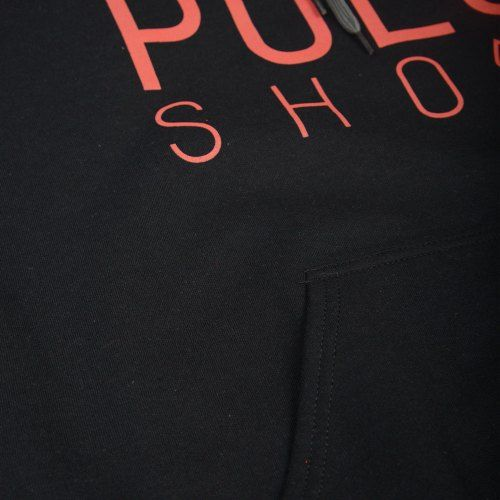 Poloshow Hoodie Black Red 5