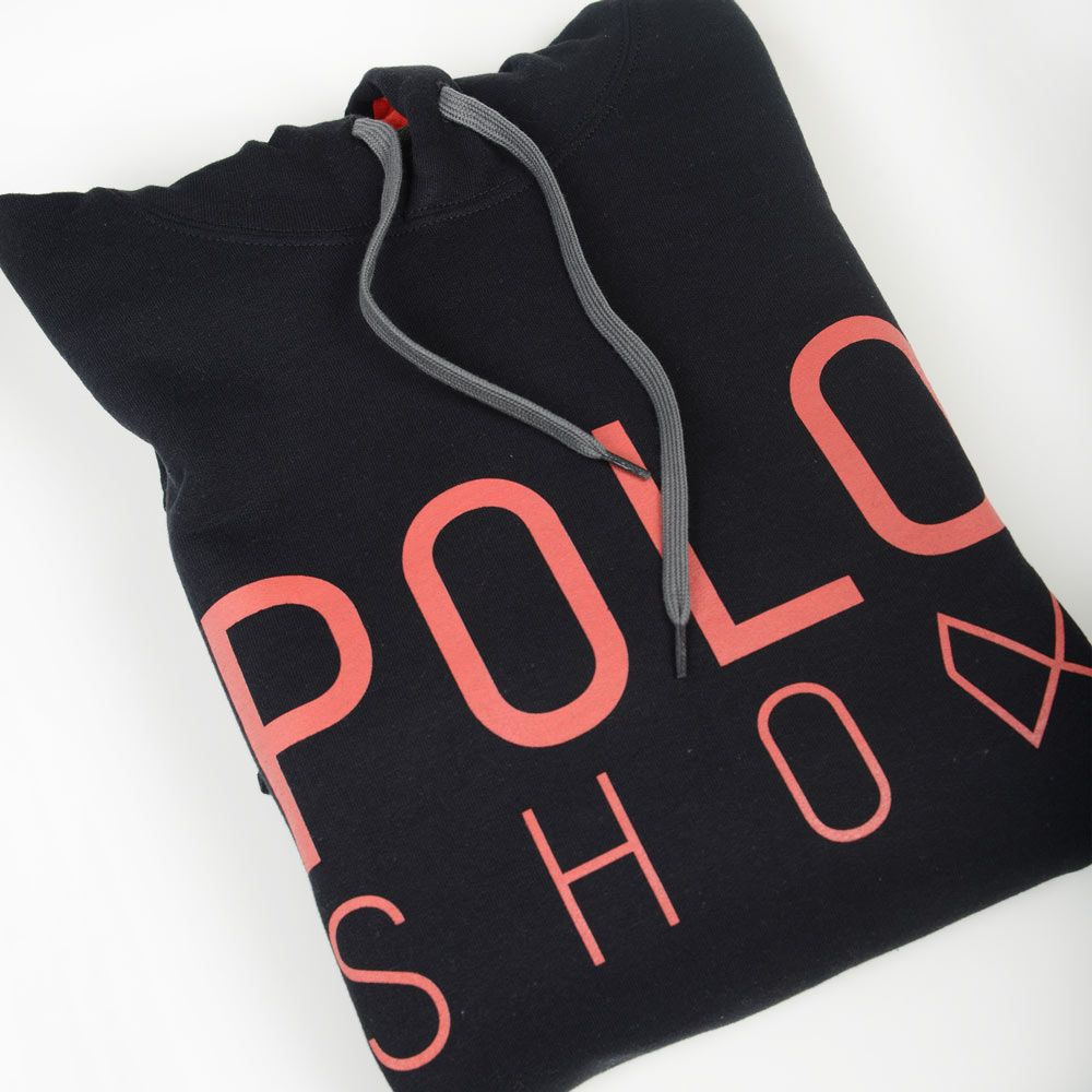 Poloshow Hoodie Black Red 7