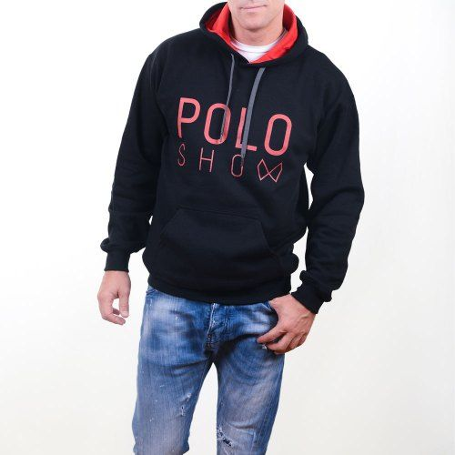Poloshow Hoodie Black Red 8