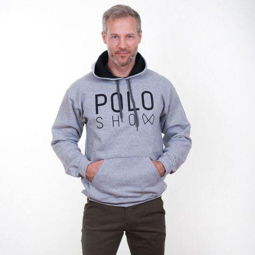 Poloshow Hoodie Grey Black 10