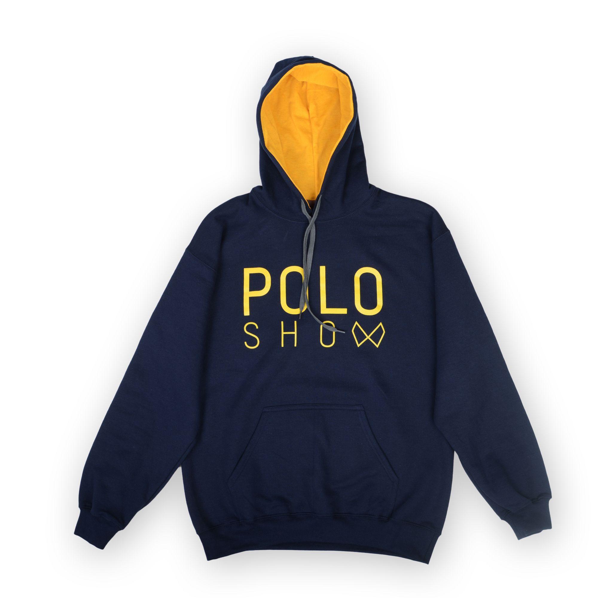Poloshow Hoodie Navi Gold 1