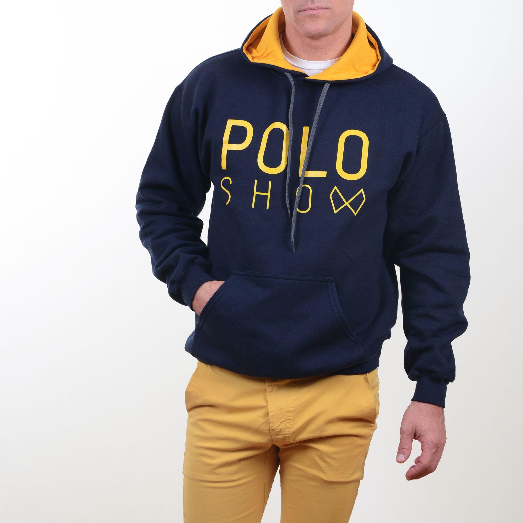 Poloshow Hoodie Navi Gold 10