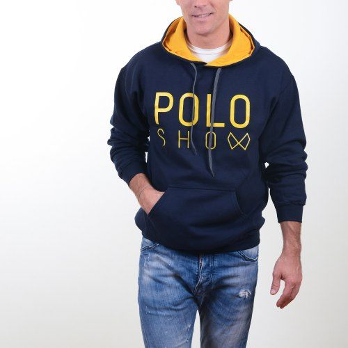 Poloshow Hoodie Navi Gold 8
