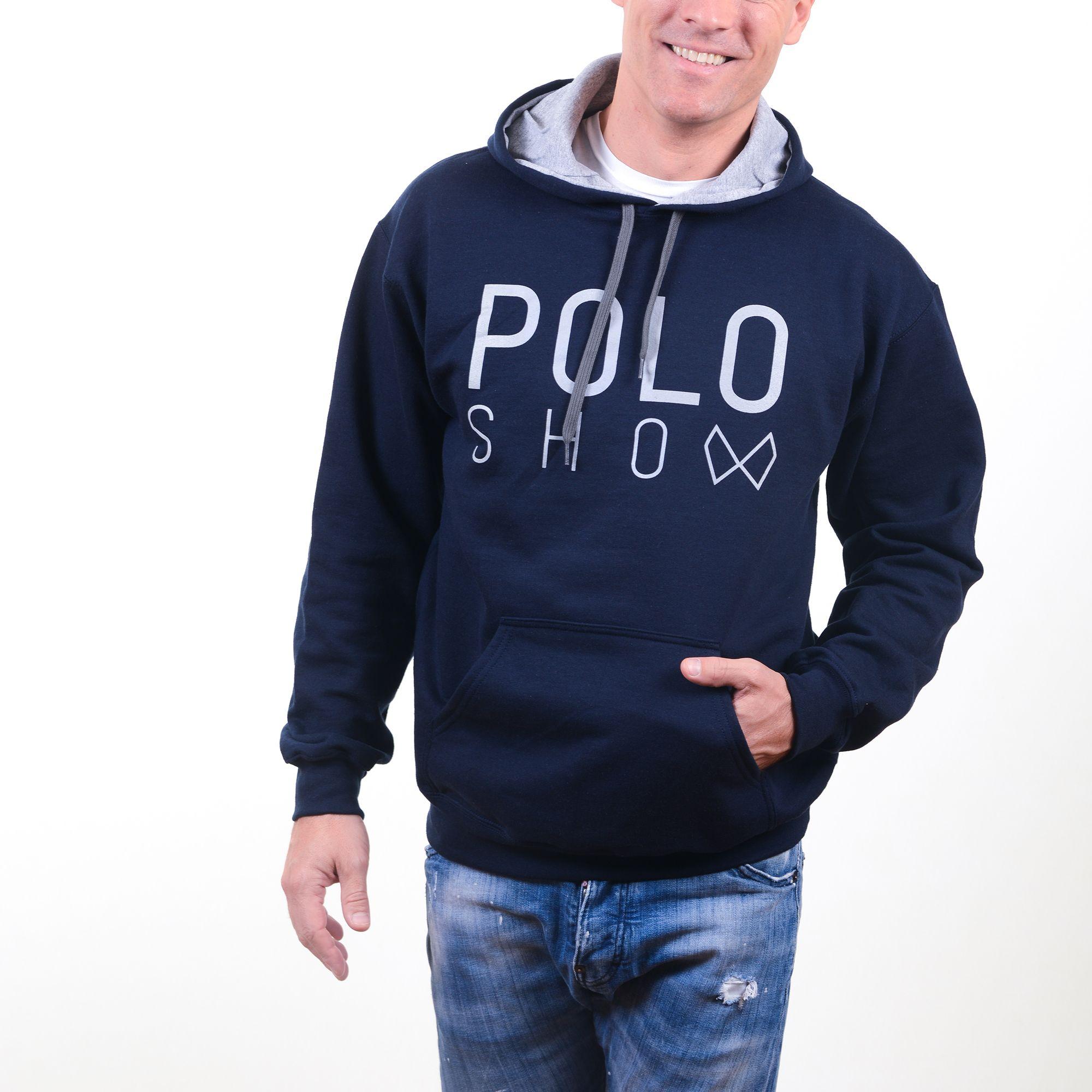 Poloshow Hoodie Navi Grey 8