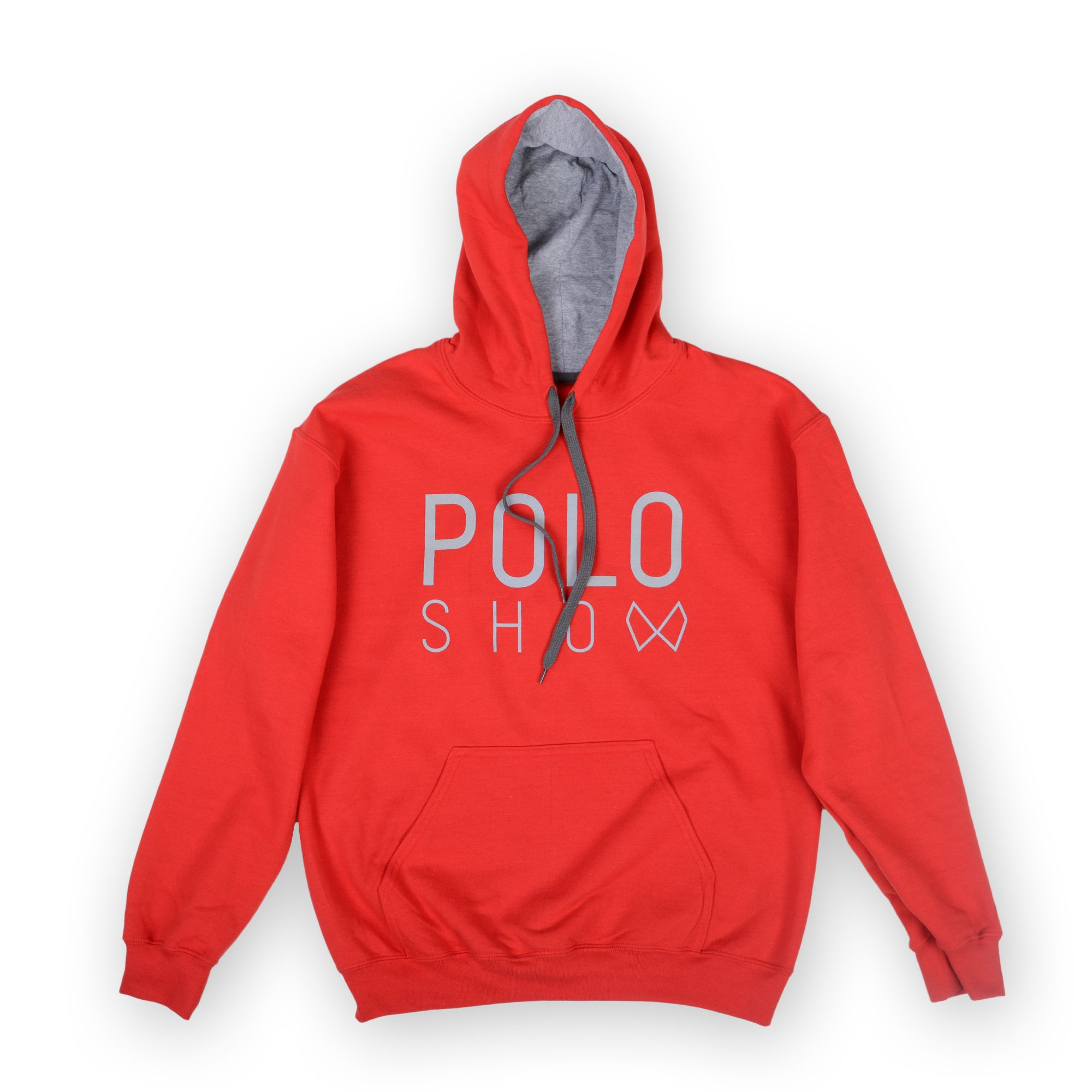 Poloshow Hoodie Red Grey 1