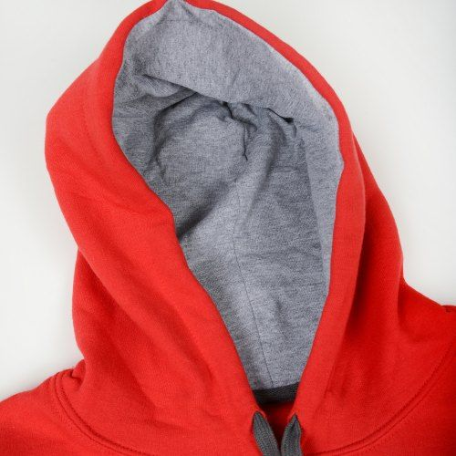 Poloshow Hoodie Red Grey 4