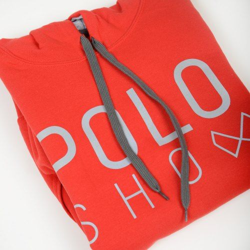 Poloshow Hoodie Red Grey 7