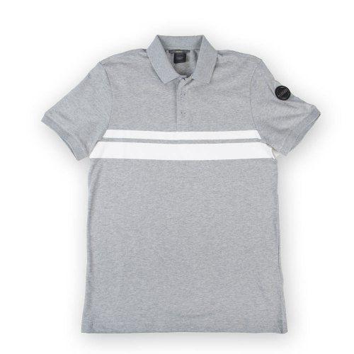 Poloshow polo Colmar grau weiß 7625 3SV 1