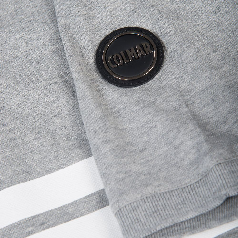 Poloshow polo Colmar grau weiß 7625 3SV 5
