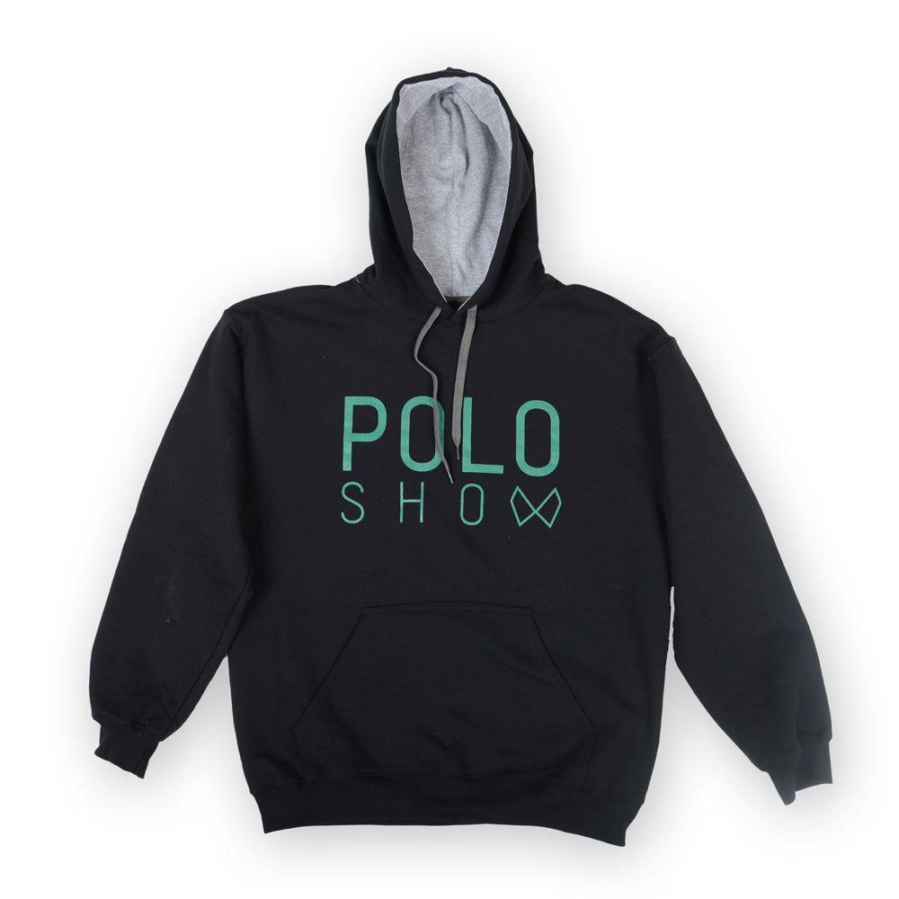 Poloshow Hoodie Black Green 1