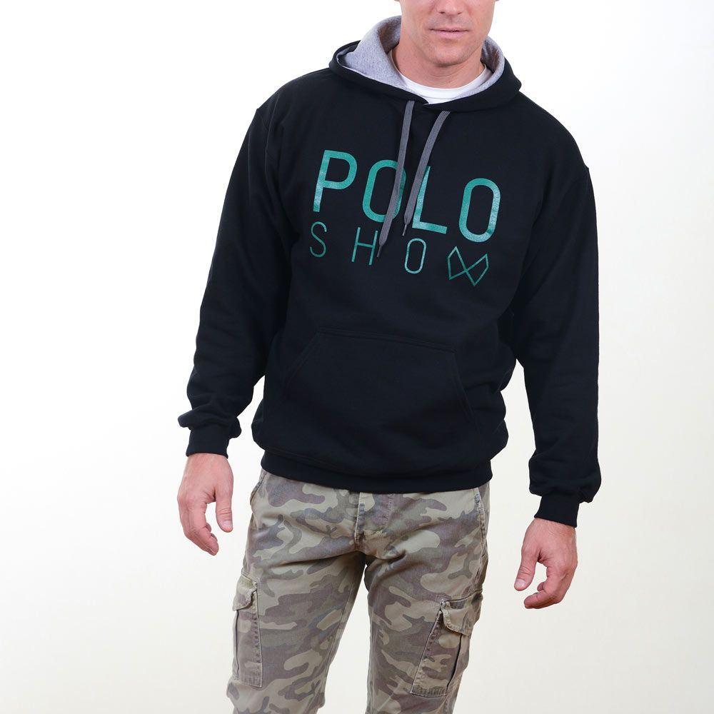 Poloshow Hoodie Black Green 10