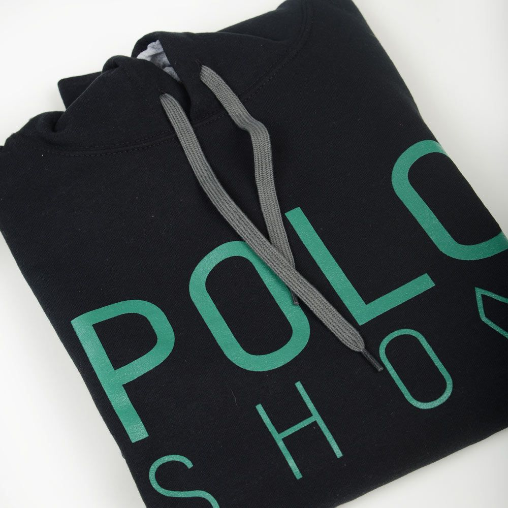 Poloshow Hoodie Black Green 7