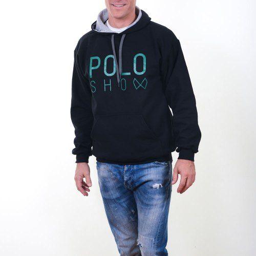 Poloshow Hoodie Black Green 8