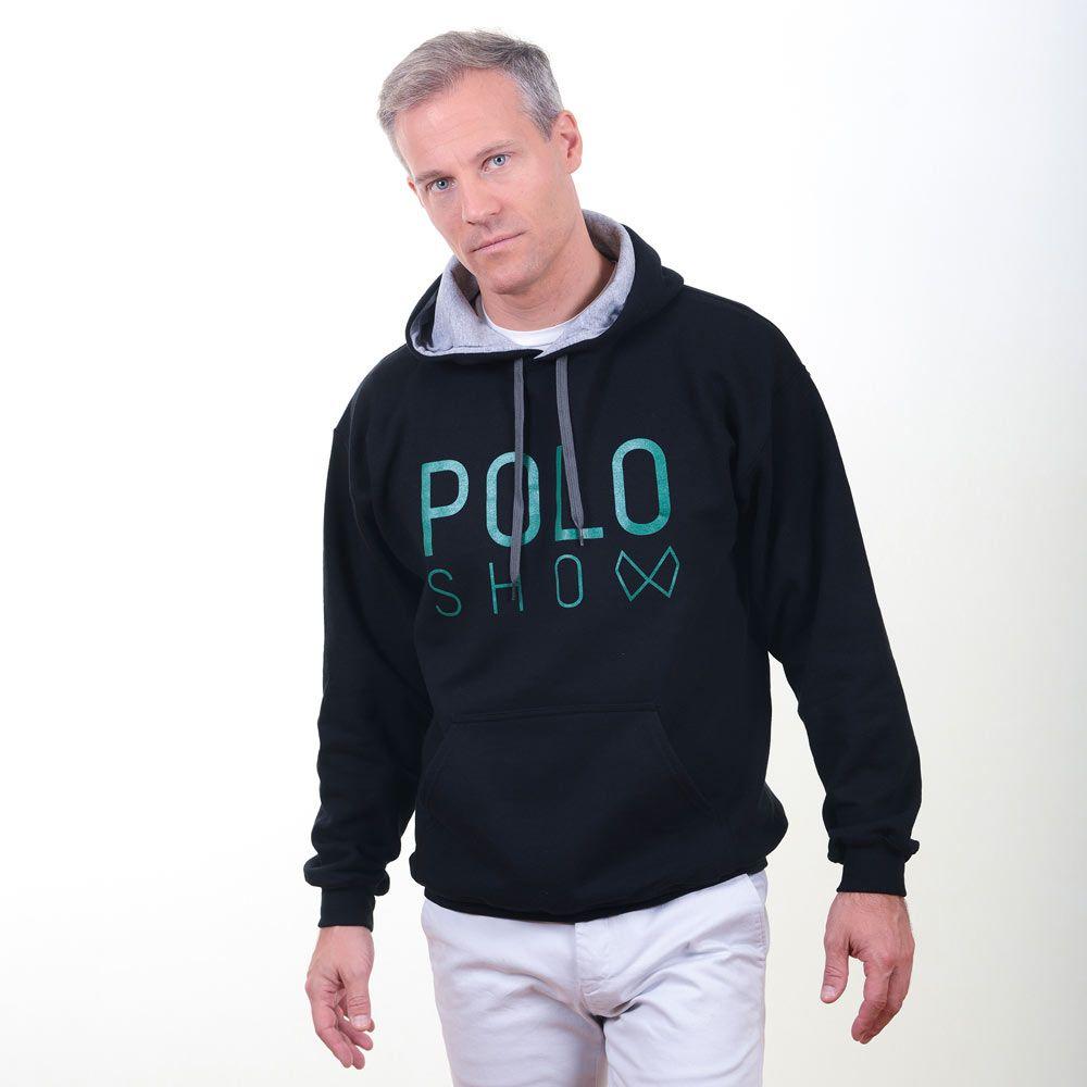 Poloshow Hoodie Black Green 9