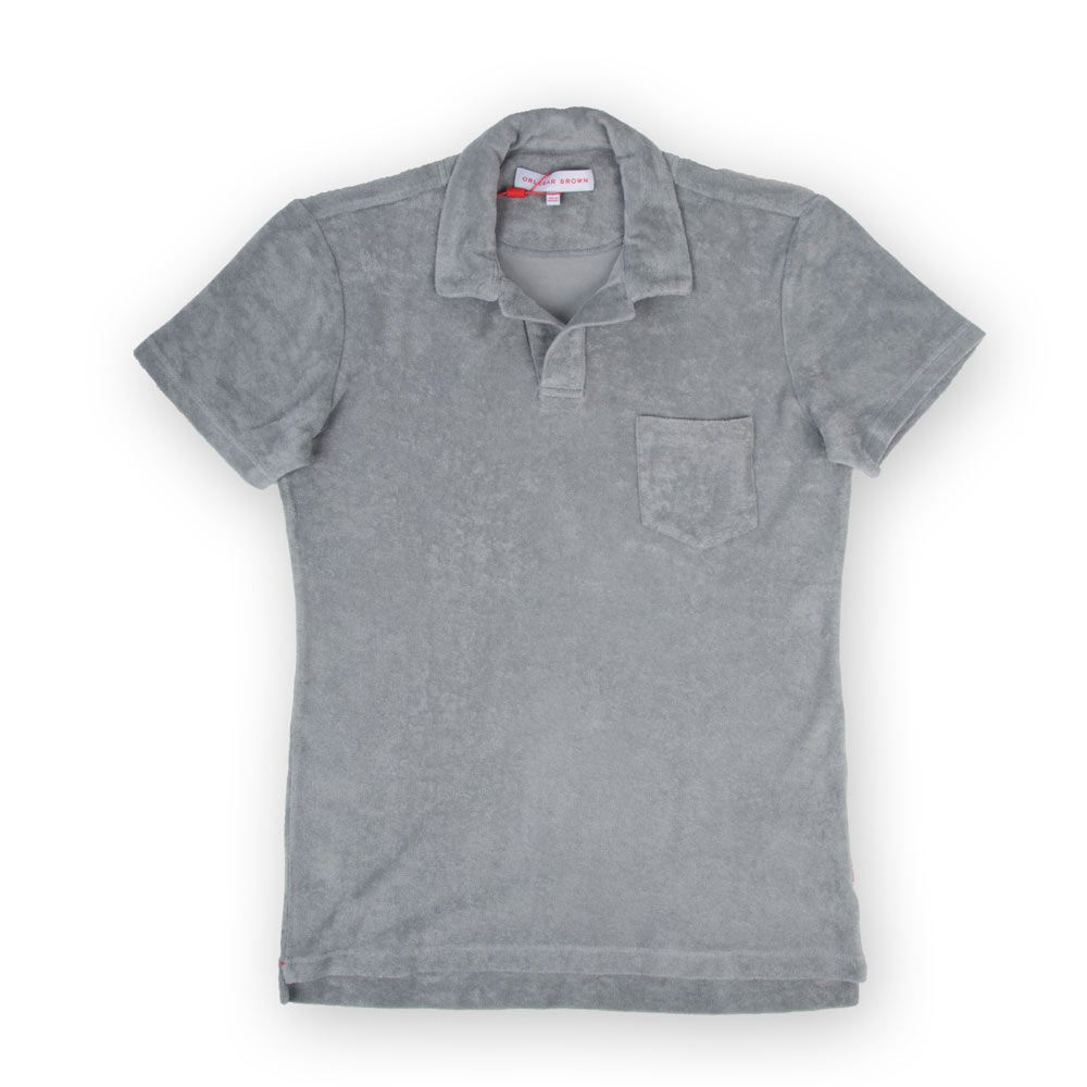 Poloshow polo Orlebar Brown Grau Terry 269314M 1