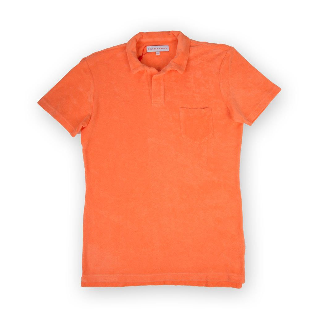 Poloshow polo Orlebar Brown Orange Terry 269313M 1