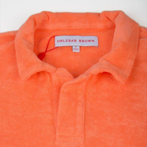 Poloshow polo Orlebar Brown Orange Terry 269313M 3